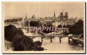 Old Postcard Paris La Cite Notre Dame