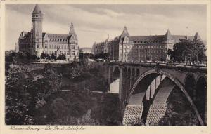 LUXEMBOURG, 1900-1910's; Le Pont Adolphe