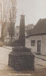 Old Cross Stapleford Nottingham Antique Real Photo Postcard