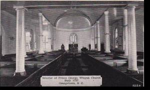 South Carolina Georgetown Prince George Winyah Church Interior Dexter Press A...