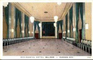 Michigan Muskegon Occidental Hotel Ball Room Curteich