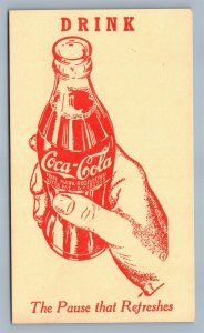 COCA COLA DRINK ADVERTISING VINTAGE POSTCARD PAUSE THAT REFRESHES