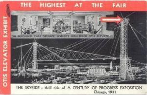 The SKYRIDE, Century of Progress Exposition, Chicago , Illinois, 1933