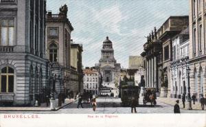 BRUXELLES, Belgium, 1900-1910´s; Rue De La Regence