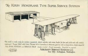 RARE Kirby Monoplane type super aircraft airplane Service Gas Station Bellingham