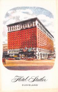 Cleveland Ohio~Hotel Statler~1910 Postcard