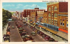Mayfield Kentucky Broadway Store Fronts Street View Antique Postcard K21971
