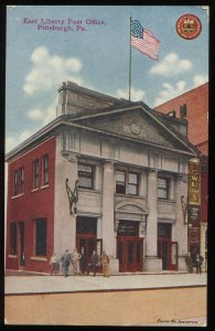 East Liberty Post Office, Pittsburgh, Pennsylvania. Early 20th century postcard