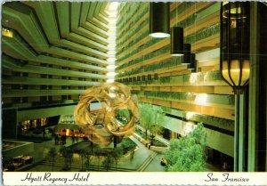 Hyatt Regency San Francisco California Postcard 1973 HS Crocker Co
