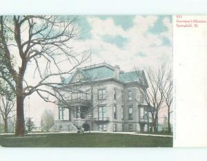 Pre-1907 GOVERNORS MANSION Springfield Illinois IL n7014