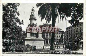 Postcard Modern Genoa (Genova) Acquaverde Square Monument C Colambo