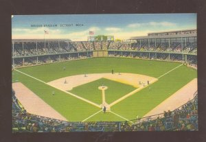 DETROIT TIGERS BRIGGS BASEBALL STADIUM GAME MLB VINTAGE POSTCARD