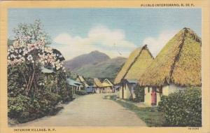 Panama Typical Interior Village  1948