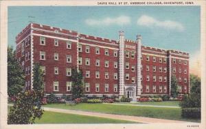 Iowa Davenport Davis Hall At Saint Ambrose College 1936