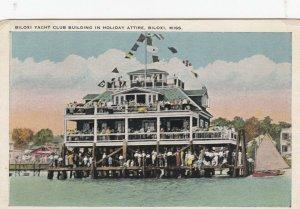 BILOXI, Mississippi, 1924 ; Yacht Club Bldg in Holiday attire