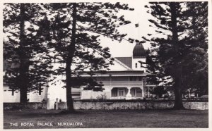 Nukualofa Tonga Royal Palace Real Photo Postcard