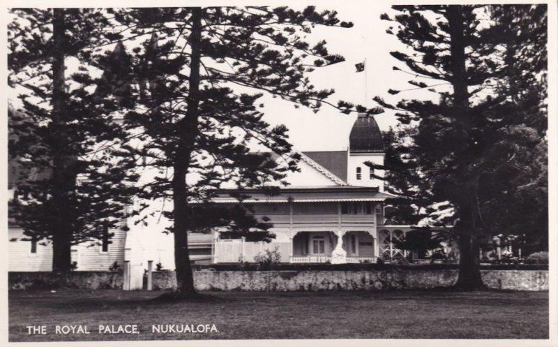 Nukualofa Tonga Royal Palace Real Photo Postcard