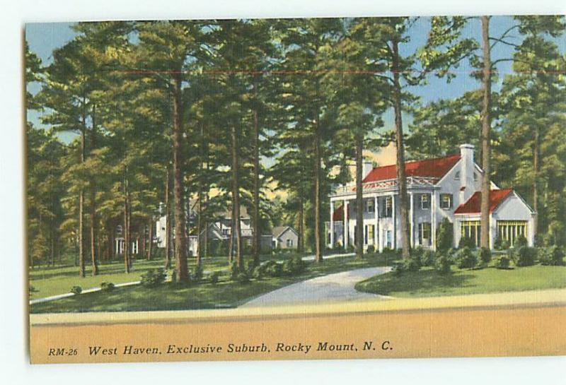 Vintage Postcard RM-26 West Haven Suburb Rocky Mountain North Carolina # 2037