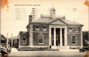 Dover Delaware Post Office Vintage Postcard