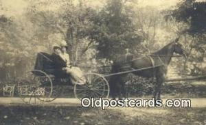 Aunt Ida & Uncle Frank Berisley Horse Drawn Postcard Post Card Old Vintage An...