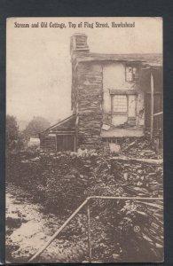 Cumbria Postcard - Stream and Old Cottage, Top of Flag Street, Hawkshead  T4397
