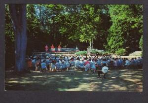 ME Bok Amphitheater King Henry Camden Hills Theatre Group Maine Postcard PC