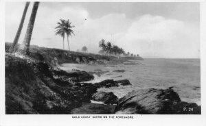 Ghana Gold Coast Scene on the foreshore RP Postcard