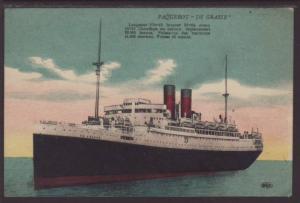 Steamer Paquebot De Grasse Postcard 4428