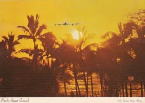 Guam Pacific Sunset Farewell Super Jet Leaving The Pacific Ilands 1977