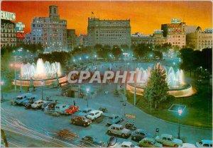 Postcard Modern Catalonia Barcelona Plaza