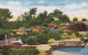 Wisconsin Milwaukee Rock Garden At Charles B Whitnall Park Milwaukee County P...