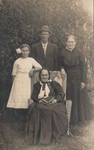 RP: CORNING, California, 1913 ; Family Portrait
