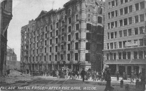 San Francisco California 1906 Disaster Postcard Palace Hotel After Fire