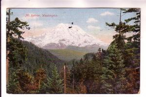 Mount Rainier, Washington, Hopf Bros, Clear World's Fair Seattle 1909 Slogan ...