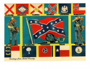 Greetings from Rebel Country, Flags of Confederate States