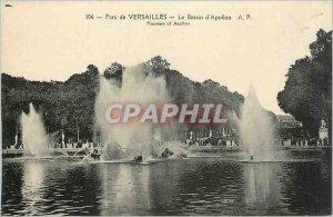 Old Postcard Versailles Park Apollo Basin
