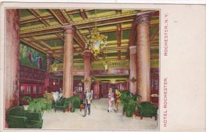 New York Rochester Hotel Rochester The Lobby 1917