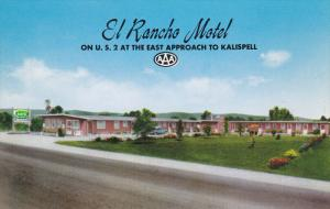 Near KALISPELL, Montana, 1940-1960's; El Rancho Motel, U.S. 2