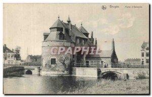 Old Postcard Bruges Porte d'Ostende