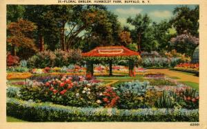 NY - Buffalo. Humboldt Park, Floral Emblem