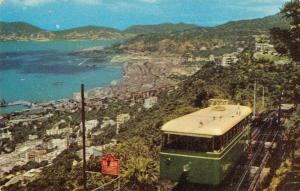 Hong Kong China Wanchai Bay Funicular Railway Car Vintage Postcard J73258