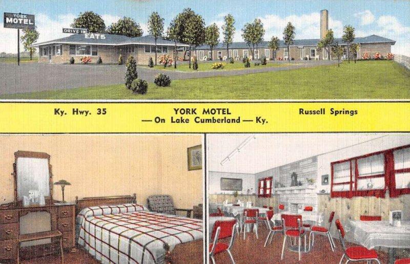 Lake Cumberland Kentucky York Motel Vintage Postcard AA39781