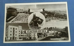 Vintage Multiview Postcard Greetings From Clacton-On-Sea Essex G1G