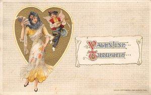 Artist Samuel Schmucker? Valentines Day Unused yellowing from age