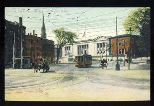 Worcester, Massachusetts/MA/Mass Postcard, Lincoln Square & Court House
