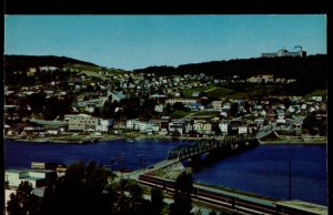 Quebec ~ Picturesque View of the Town of GASPE - Chrome 1950s-1970s