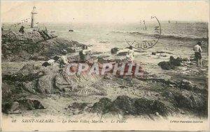 Old Postcard Saint Nazaire La Pointe Villez Martin Le Phare