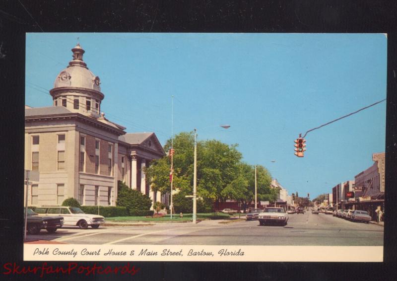 BARTOW FLORIDA POLK COUNTY COURT HOUSE 1960's CARS VINTAGE