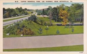 Carter Memorial Park Lee Highway Near Wytheville Virginia