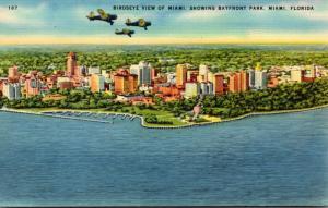Florida Miami Birds Eye View Showing Bayfront Park
